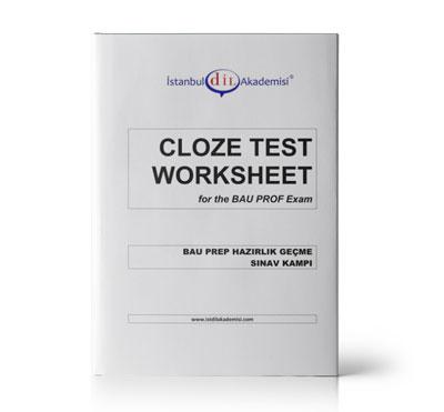 BAU PROFICIENCY CLOZE TEST WORKSHEET