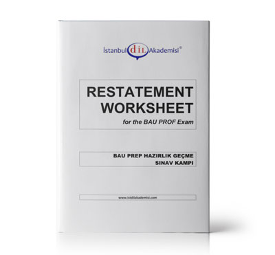 BAU PROFICIENCY RESTATEMENT WORKSHEET