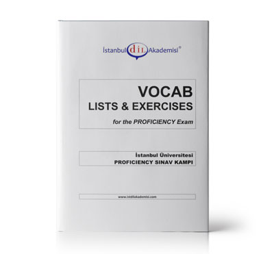 İÜ PROFICIENCY VOCAB LISTS & EXERCISES