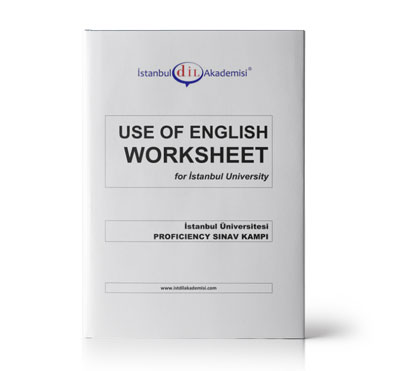 İÜ PROFICIENCY USE OF ENGLISH WORKSHEET