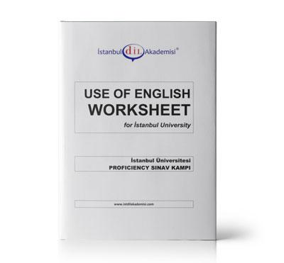 İÜ PROFICIENCY USE OF ENGLISH WORKSHEET