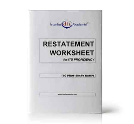 İTÜ PROF SINAV KAMPI RESTATEMENT WORKSHEET