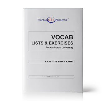 KHAS - İYS VOCAB LISTS & EXERCISES