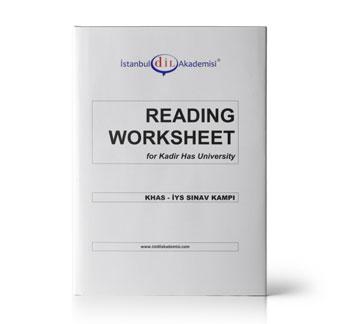 KHAS - İYS READING WORKSHEET