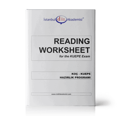 KUEPE READING WORKSHEET