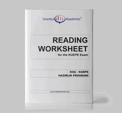 KUEPE READING WORKSHEET