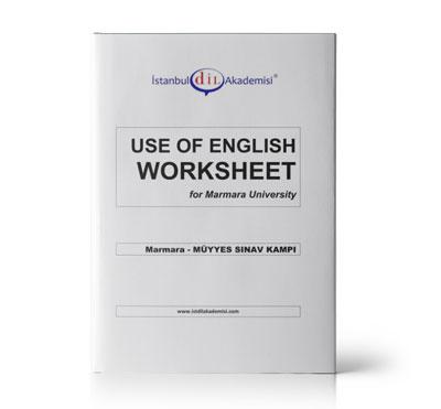 MÜYYES SINAV KAMPI USE OF ENGLISH WORKSHEET
