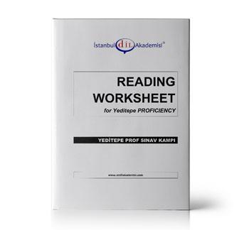 YEDİTEPE PROFICIENCY READING WORKSHEET